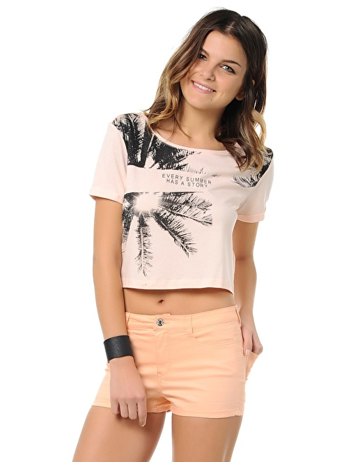 Only T-Shirt | Crop Top Pembe